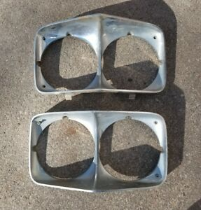 70 1970 Chevy Impala Caprice Headlight Bezels Chrome Chevrolet Bel Air Biscayne