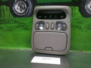 2001 2007 Toyota Sequoia Overhead Console Dome Light Sunroof Homelink Oem Gray