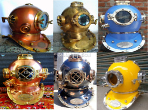 Diving Helmets Lot Vintage Decorative 6 Piece Lot Deep Sea Vintage Diving Divers