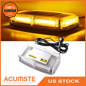 Us 6 Cob Led Emergency Flash Warning Roof Top Strobe Light Amber Car Truck