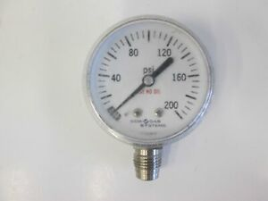 Semi Gas Systems Pressure Gauge 0 200 Psi 1 4 Mvcr Used