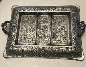 Rare 1899 Derby S P Co International 11 X 8 5 Epwm Silverplate Repousse Tray