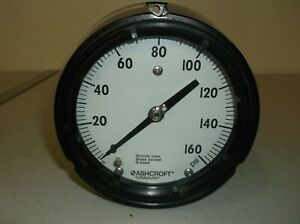 Ashcroft Pressure Gauge Q8643 0 160 Psi 4 Face 1 4 Mnpt Back Lower Conn