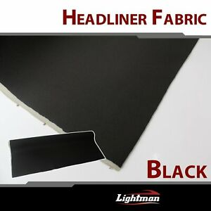 120 X60 Black Upholstery Renew Car Roof Liner Headliner Fabric Foam And Rod