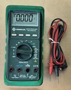 Greenlee Dm 810 True Rms Multimeter W Rubber Cover boot Leads Good Shape