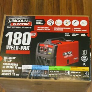 Lincoln Electric 180 Hd Amp Weld Pak Mig Wire Feed Welder K2515 1 New E