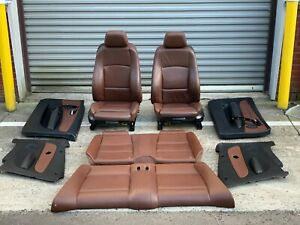 Oem 08 13 Bmw E88 Convertible 135 128 Complete Brown Interior Sport Seats