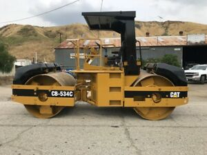 Cat Cb534c 10 Ton Roller 2900 Hours Very Clean Ex California City Since New