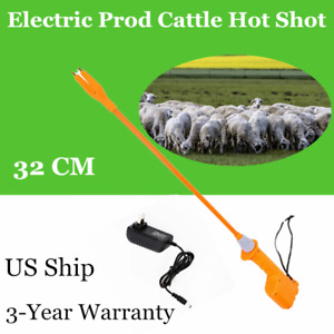 Electric Livestock Cattle Prod Safety Shock Rechargeable 32cm No Injury