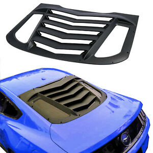 Rear Window Louvers Challenger Gt Style Windshield Fit Ford Mustang 2015 2019