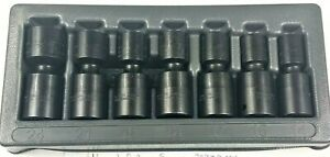 Snap On 7 Pc 1 2 6 Point Metric Flank Drive Shallow Impact Swivel Socket Set