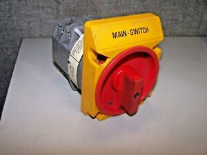 Baco 63 Amp Rotary Disconnect Switch 600 Vac 3 Main Switch Pr 63 1103 Gn 26 00