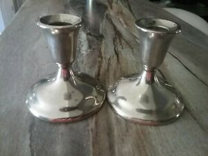 Wm A Rogers Silverplate Candle Stick Holders Set Of 2