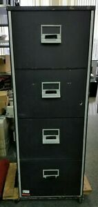 Victor Fire Master 4 Drawer File Cabinet W o Key Lock Cert 1 Hour Fireproof