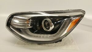 2017 2018 Kia Soul Headlight Left Driver Hid Xenon W Led Lamp Lens 17 18 Oem