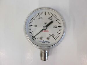 Semi Gas Systems Pressure Gauge 0 1000 Psi 1 4 Mvcr Used