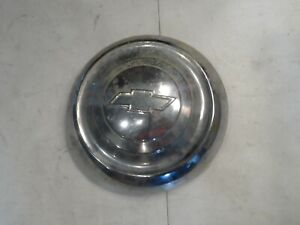 Chevy Bowtie Hot Rod Truck Dog Dish Hubcap Vintage Used Rat Rod Patina Sk