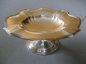 Vintage Gorham Plymouth Sterling Silver Compote 344 Gr Or 12 Oz Made In 1912