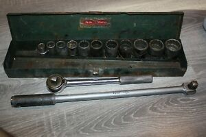 Vintage S k 1 2 Drive 14 Piece Socket Set W Box