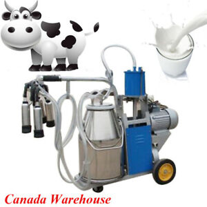 25l Electric Milking Machine For Goats Cows W bucket Usa Plug 12cows hour Milker