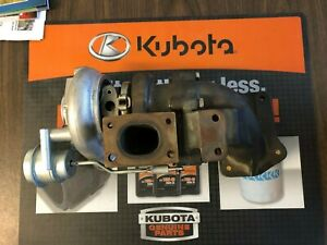 Used Oem Kubota Turbo Assembly W Muffler Flange Low Hours Part No 1j540 17010