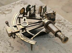 8 Working Nautical Maritime Brass Big Sextant Antiques Marine Captain Set Of 2