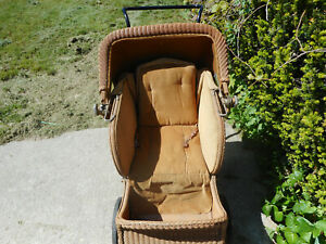 Beautifiul1933 Wicker And Wood Baby Carriage