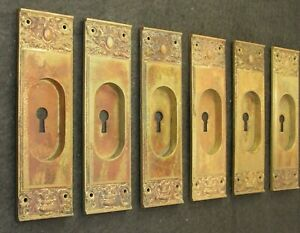 One 1 Antique Figural Owl Brass Pocket Door Pull C 1900 5 Available