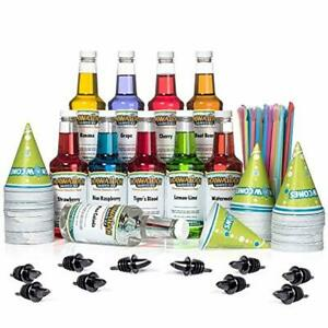 Hawaiian Shaved Ice 10 Flavor Fun Pack Of Snow Cone Syrup 10 Pints Best Value