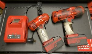 Snap On Cordless Impacts 1 2 Ct7850 3 8 Ct8810a 2 Batteries Charger Boots