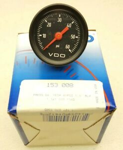 153 008 Vdo 60psi Pressure Gauge 1 5 New
