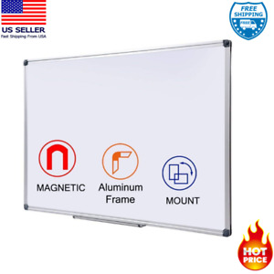 Large Magnetic Dry Erase Board With Pen Tray Wall mounted Aluminum 48 X 36