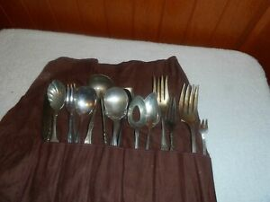 Old Antique Vintage Silverplate Flatware Lot Silverware 17pcs See Pictures