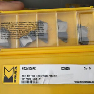 10pcs Kennametal Ng3m100rk Kc5025 Grooving And Cut off Carbide Inserts New