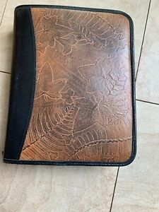 Franklin Covey Quest Leaves Leather Zipper Planner 7 Ring Binder