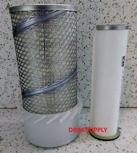 New Holland Skid Steer Inner Outer Air Filter Set Lx465 Lx485 Lx565 Lx665