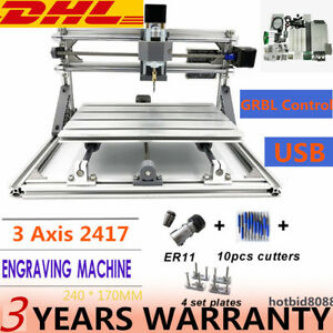 3 Axis 2417 Cnc Mini Engraving Milling Router Wood Carving Machine Usb De Hot