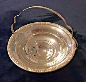 Sterling Silver Weighted Candy Dish With Handle