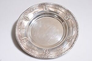 Wallace Sterling Silver Rose Point Plate 4307 Size 6 3 4