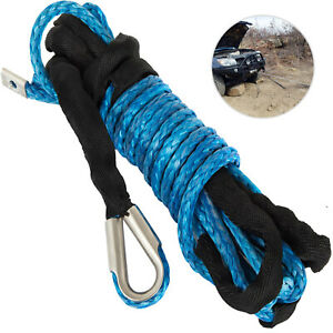 Synthetic Winch Rope 1 2 98ft Synthetic Winch Cable 16500lbs