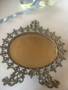 Vintage Small Mirror Gold Beveled Wall Hanging Mirror
