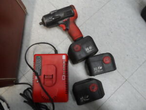 Snap On Ct4410a 3 8 Drive 14 4v Cordless Impact Wrench 3 Batteries Charger