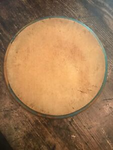 Early Old Primitive Wood Cutting Board Early Blue Paint