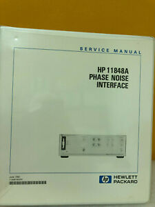 Hp Agilent 11848 90004 Hp 11848a Phase Noise Interface Service Manual