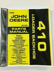 Parts Manual For John Deere 410 Backhoe Loader Assembly Manual Pc 1227