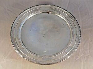 Vintage International Silver Co Sterling Silver Footed Serving Plate H15 2