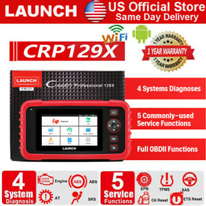 Launch Crp129x Obd2 Diagnostic Scanner Abs Sas Epb Engine Transmission Airbag At