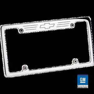 Billet 55623 License Plate Frame Bowtie Polished Chevy Truck Car