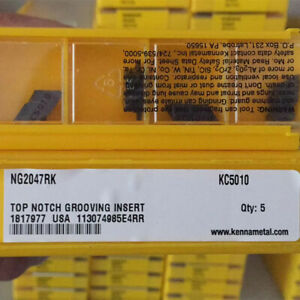 Kennametal Ng2m100rk Kc5025 Grooving And Cut off Carbide Inserts 10pcs New