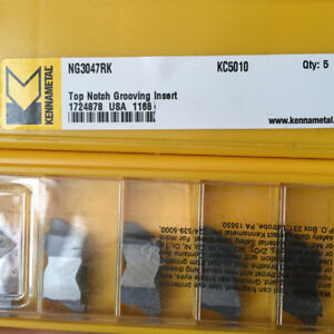 Kennametal Ng3047rk Kc5010 Grooving And Cut off Carbide Inserts 10pcs New